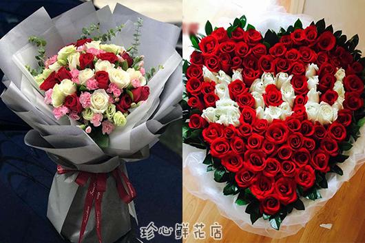 同城买花网精美玫瑰花束