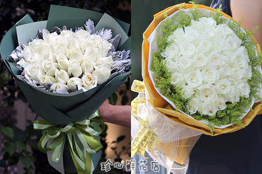 求婚33朵玫瑰花系列之白玫瑰
