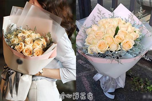 求婚应该用什么花求婚用的香槟玫瑰