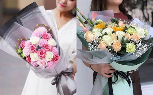 送给孕妇的花-优雅玫瑰花束图片