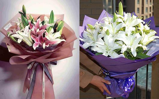 送闺蜜送什么花-送百合花