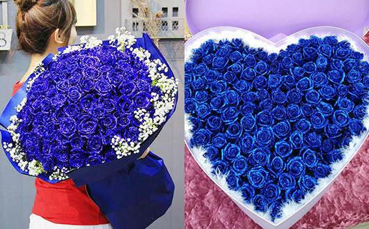 蓝色妖姬外地送花