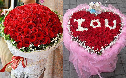 情人节送情人什么花-99朵红色玫瑰花