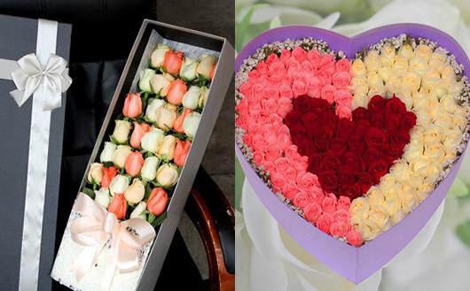 情人节要不要送花-盒装玫瑰
