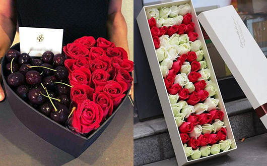 近期流行的求婚必备玫瑰礼盒