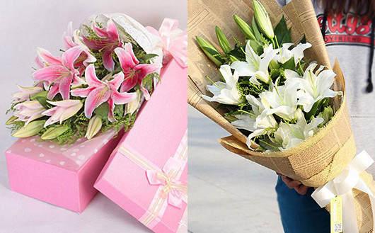 情人节送老婆什么花好-给老婆送百合花礼品