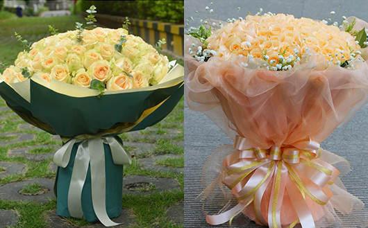 求婚应该准备什么-香槟玫瑰