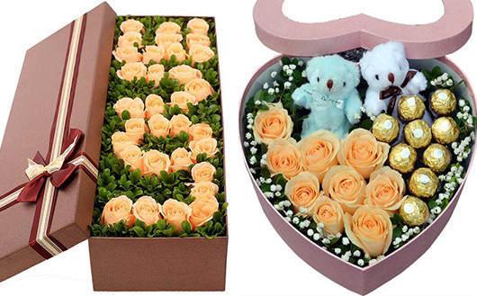 情人节第一次送什么花-香槟玫瑰显得优雅啊