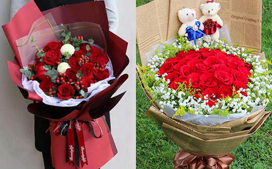 鲜花同城送红玫瑰花束图片