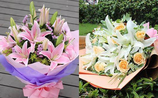 情人节送什么花给男朋友-送百合花