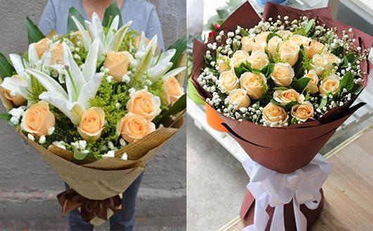求婚送花多少朵-香槟玫瑰