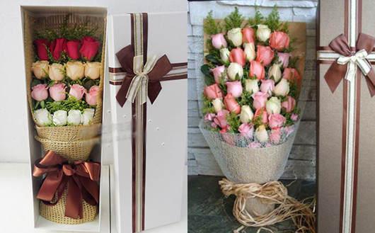 怎么求婚省钱又浪漫-盒装玫瑰