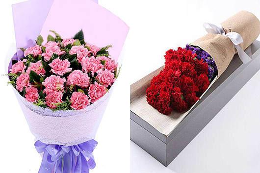 适合送孕妇的鲜花-粉色或红色康乃馨礼品