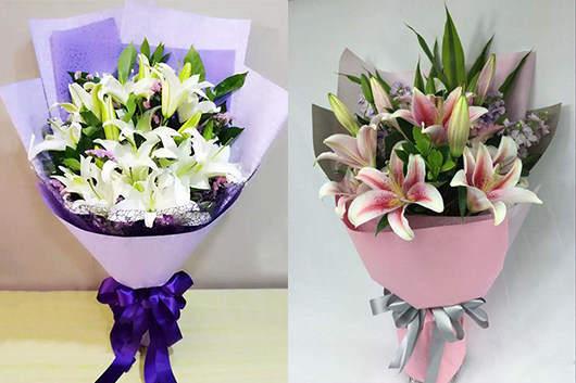 订鲜花店出品的百合花