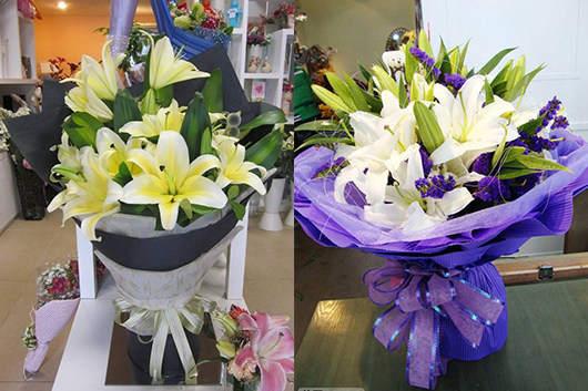怎么给异地的人送花-百合鲜花礼品图片