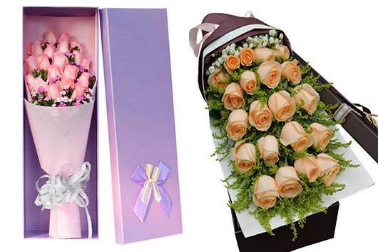 鲜花同城配送-各种玫瑰礼盒