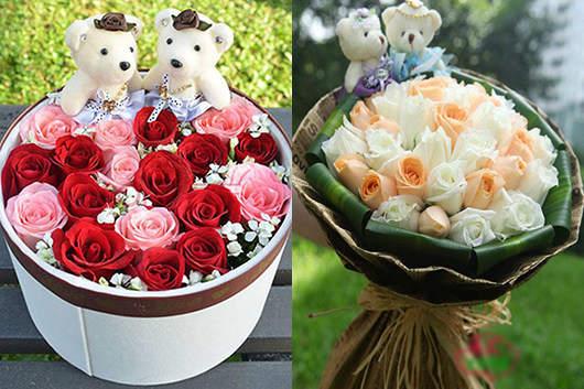 附近鲜花配送店预订玫瑰花