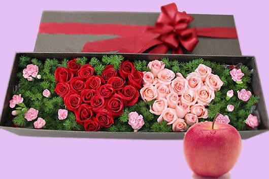 情人节玫瑰花送几朵好-33朵玫瑰花礼盒