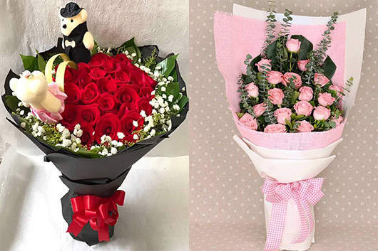 精美款玫瑰花束-订花网哪个好