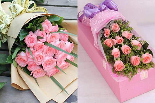 求婚送什么花好-送粉玫瑰来衬托女孩的美