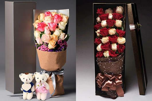 情人节送男生什么花-秀恩爱玫瑰花礼盒