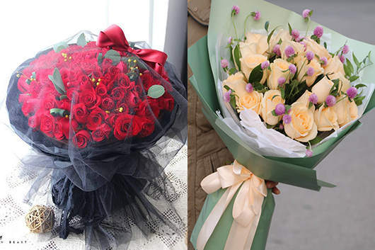 附近鲜花礼品店精美玫瑰花束