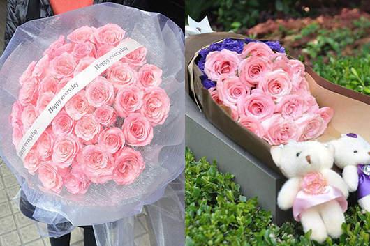 情人节送花好吗-送粉玫瑰