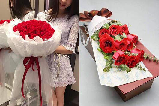 情人节玫瑰花送几朵好-红玫瑰花束