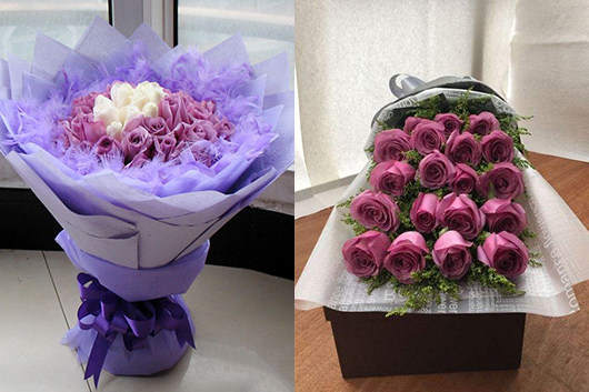 情人节买花多少钱-紫玫瑰