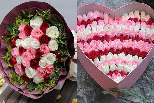 情人节送什么花好看:论美还要数玫瑰,怎样混搭有技巧