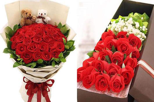 情人节玫瑰花送几朵好-红玫瑰礼品