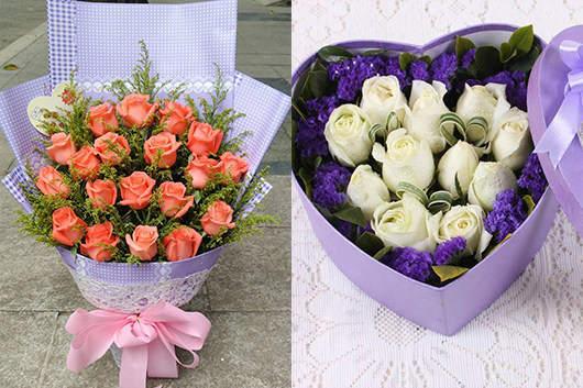 鲜花同城配送精美玫瑰产品