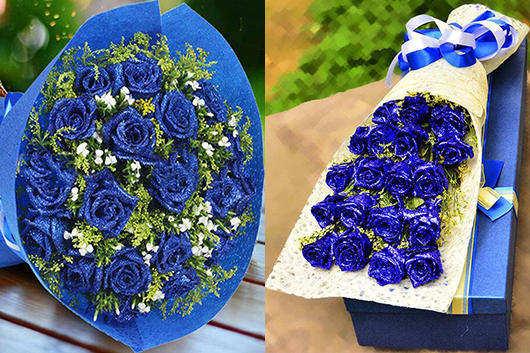 求婚应该准备什么-送蓝色玫瑰礼品