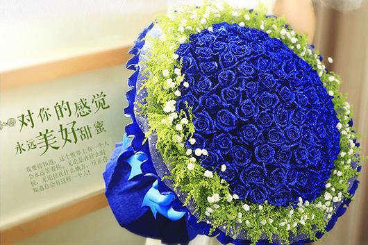 不少人选择求婚送蓝色妖姬-求婚应该用什么花
