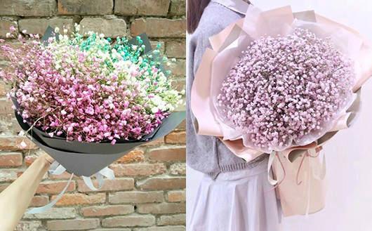 附近鲜花店订满天星花束