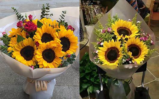 送孕妇什么礼物最贴心-向日葵花束拍照