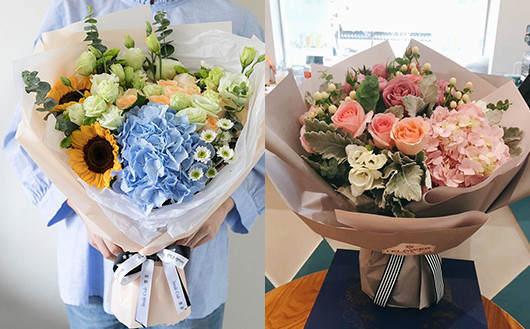 送给产妇的花-代表喜事多多的绣球花束