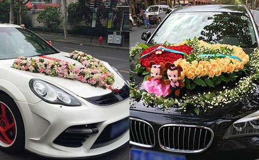 全国送花-婚礼车头花装饰全国上门安装