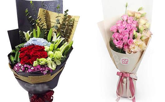 同城鲜花店配送的同城鲜花款式