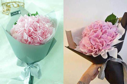 异地送花哪个网站好-花店制作的绣球花花束