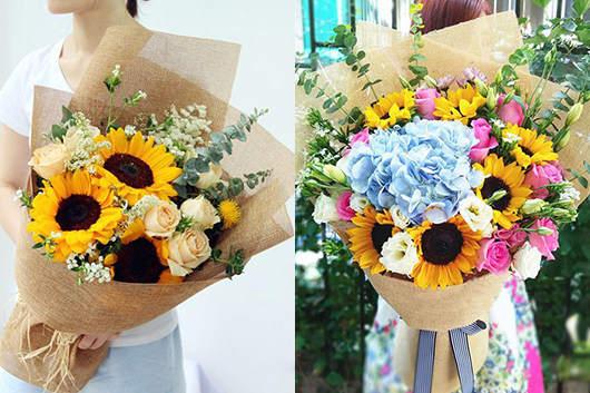 送孕妇的花向日葵