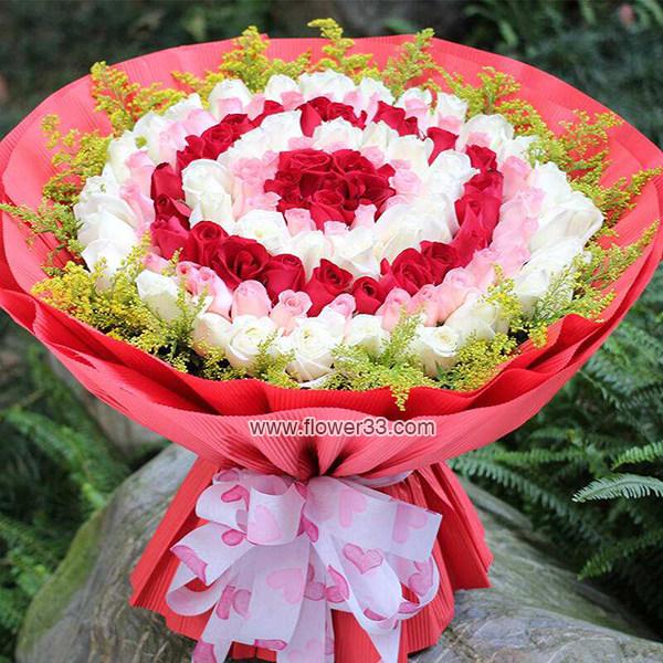 女神跟我回家 - 108朵玫瑰花束