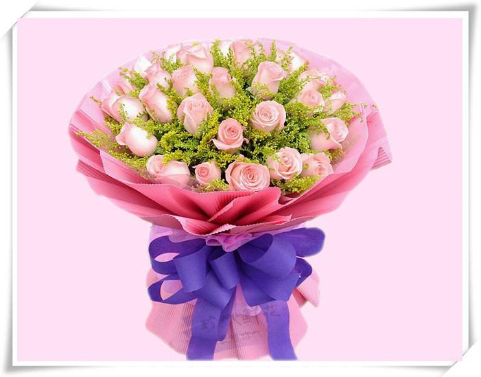 美丽的梦想 - 粉色玫瑰花个性鲜花定制