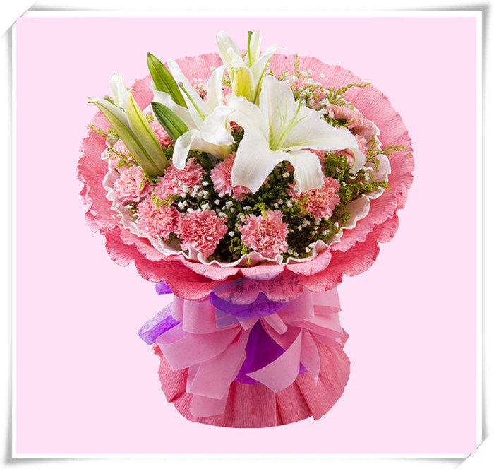 感谢你的付出 - 百合康乃馨鲜花
