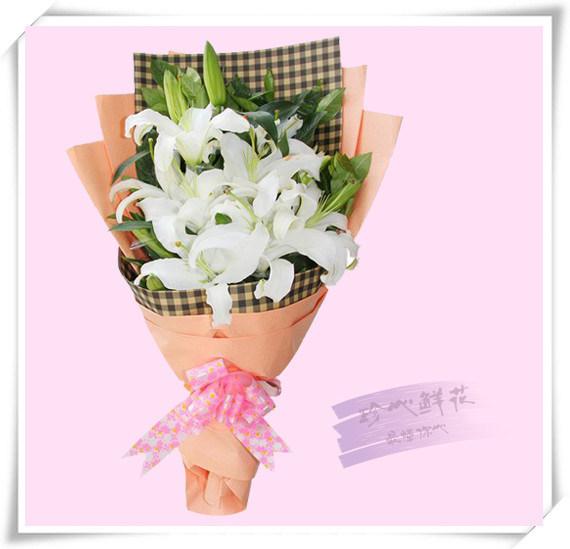 不变的关怀 - 11朵百合花束