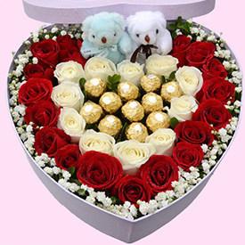 表白礼物送什么好-巧克力玫瑰礼盒