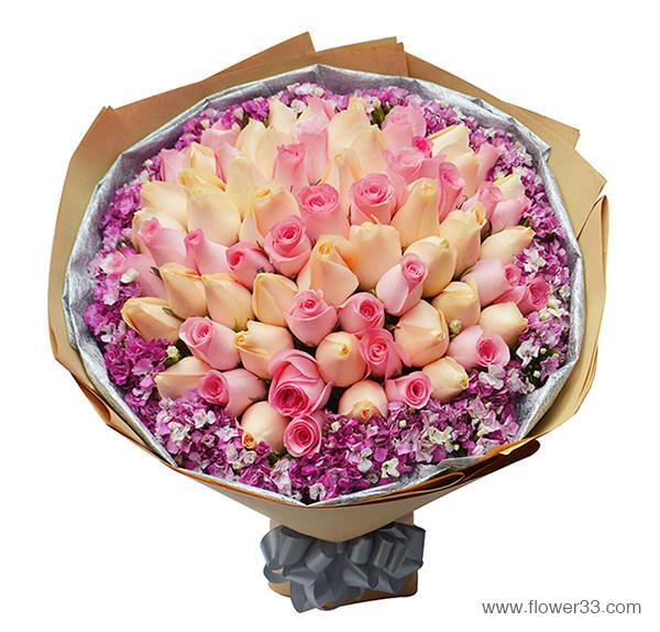 温柔的爱 - 预定99朵玫瑰鲜花速递
