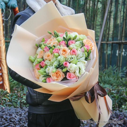 生活美如花 - 66朵混搭鲜花花束