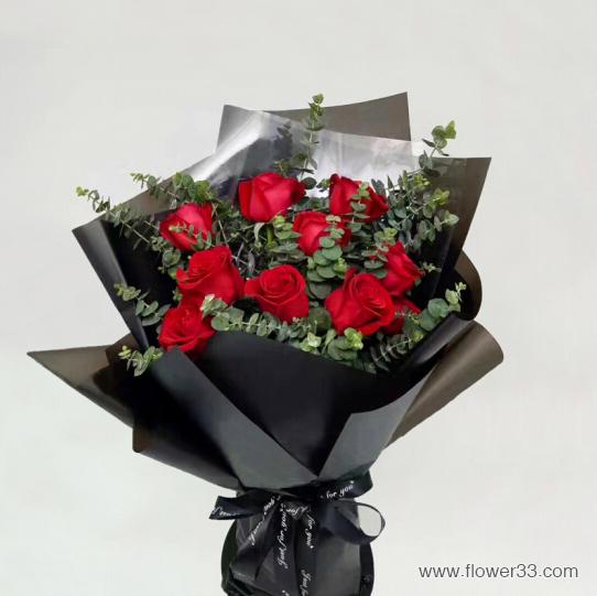 爱情的主旋律 - 11朵玫瑰花束