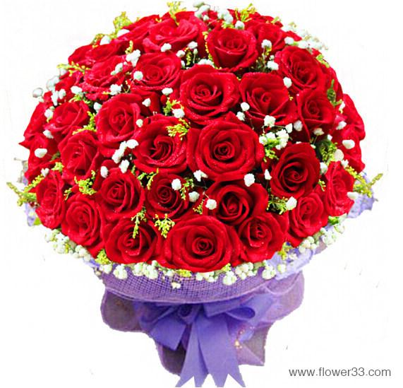 三生三世的爱情 - 33朵红玫瑰花束